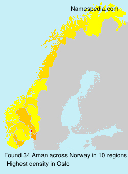 Surname Aman in Norway