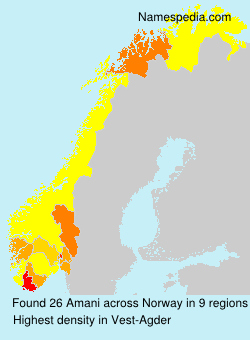 Surname Amani in Norway