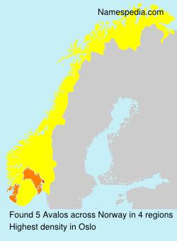 Familiennamen Avalos - Norway