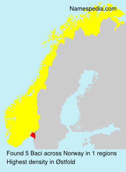 Surname Baci in Norway