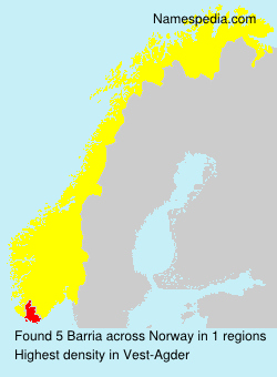 Surname Barria in Norway