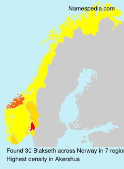 Surname Blakseth in Norway
