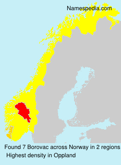 Surname Borovac in Norway