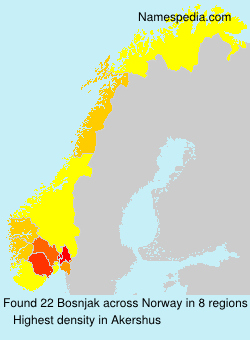 Surname Bosnjak in Norway