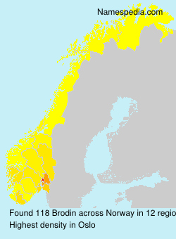 Surname Brodin in Norway
