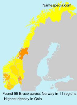 Surname Bruce in Norway