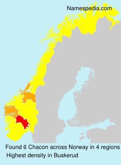 Surname Chacon in Norway