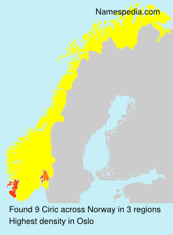 Surname Ciric in Norway