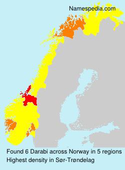 Familiennamen Darabi - Norway