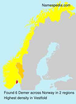 Surname Demer in Norway