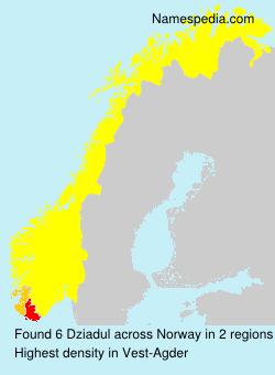 Familiennamen Dziadul - Norway
