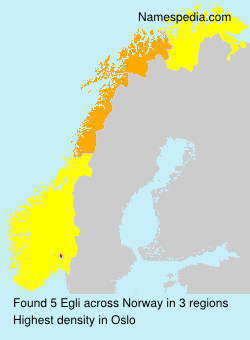 Surname Egli in Norway