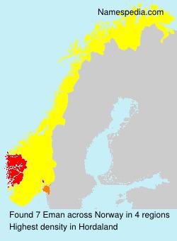 Surname Eman in Norway