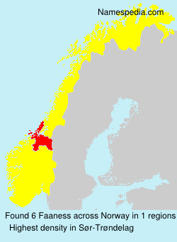 Surname Faaness in Norway
