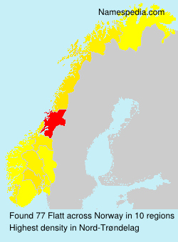 Surname Flatt in Norway