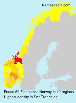 Surname Flor in Norway