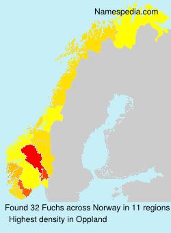 Familiennamen Fuchs - Norway