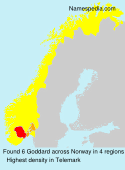 Surname Goddard in Norway