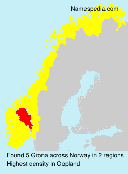 Surname Grona in Norway