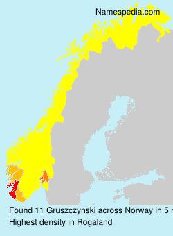 Surname Gruszczynski in Norway