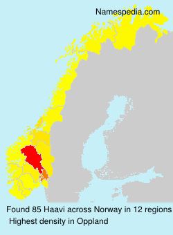 Familiennamen Haavi - Norway