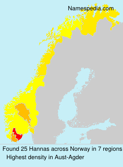 Surname Hannas in Norway