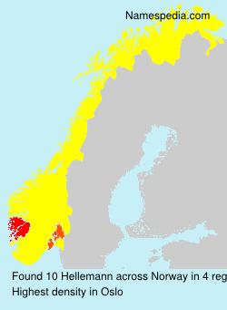Familiennamen Hellemann - Norway