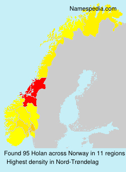 Surname Holan in Norway