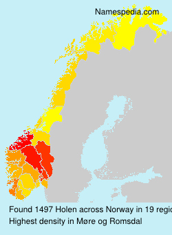 Surname Holen in Norway