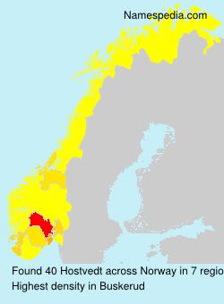 Familiennamen Hostvedt - Norway