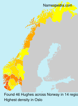 Familiennamen Hughes - Norway