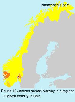 Familiennamen Jantzen - Norway