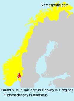 Surname Jauniskis in Norway