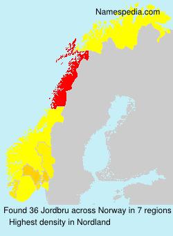 Surname Jordbru in Norway