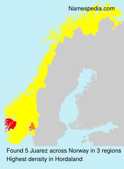 Familiennamen Juarez - Norway