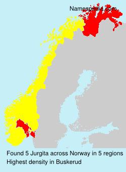 Surname Jurgita in Norway