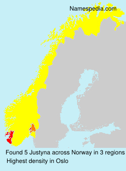 Surname Justyna in Norway