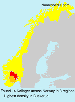 Surname Kallager in Norway