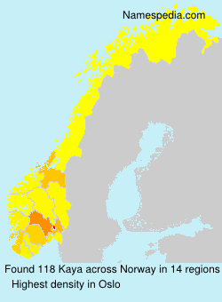 Surname Kaya in Norway