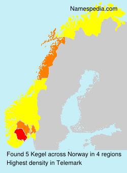 Familiennamen Kegel - Norway