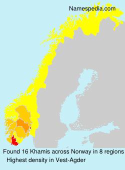 Surname Khamis in Norway