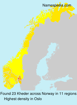 Familiennamen Kheder - Norway