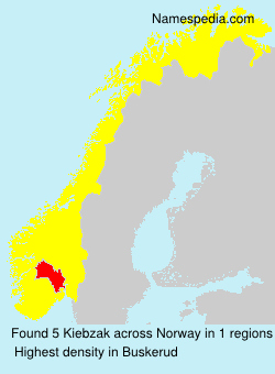 Surname Kiebzak in Norway