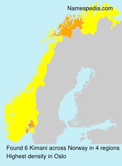 Familiennamen Kimani - Norway