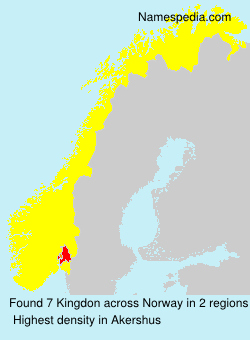 Surname Kingdon in Norway