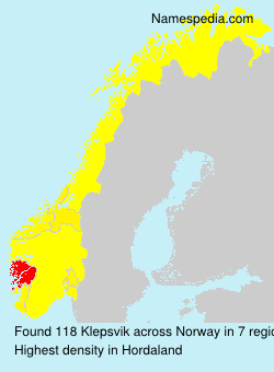Surname Klepsvik in Norway