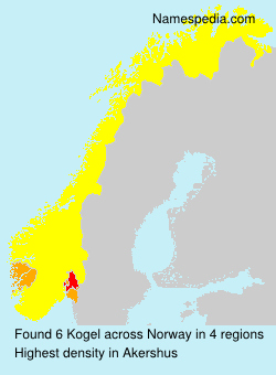Surname Kogel in Norway