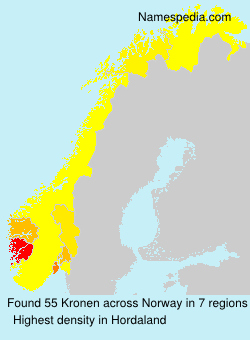 Surname Kronen in Norway