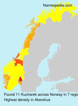 Surname Kucharek in Norway