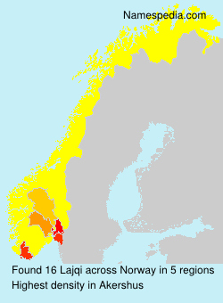 Surname Lajqi in Norway